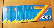 Lot Of 15 Vintage 1983 Matchbox Collectors Booklet Catalogand039s New Free Shipping