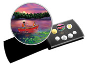 🇨🇦 Canada Special Gift Coin Set 15 Dollars Outdoors Sunset Canoeing 2017