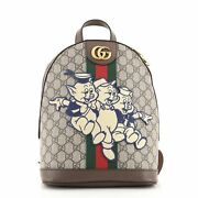 Disney Three Little Pigs Ophidia Backpack Gg Coated Canvas With Applique