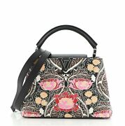 Louis Vuitton Capucines Bag Printed Embossed Leather Bb