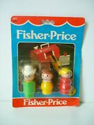 Fisher Price Vintage Fp 677 Little People Farm Family Figures [ Neuf ]