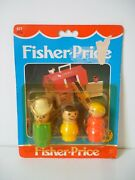 Fisher Price Vintage Fp 677 Little People Farm Family Figures Variante 2 [neuf]