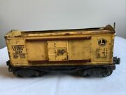 Vtg Lionel Lines Box Car Pre War Yellow 2655 O Ga As Is For Parts Or Restore