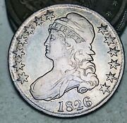1826 Capped Bust Half Dollar 50c Ungraded Choice Good Date Us Silver Coin Cc8300