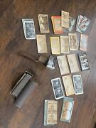 Antique Stereoscope Stereo Viewer With Lot 70+ Photo Cards Jerusalem Comic Sear