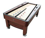 The Rebound Snap-back 7 Foot Shuffleboard Table In Cherry By Berner Billiards
