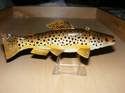 Brown Trout Fish Decoy By Jim Stangland