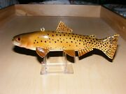 Cutthroat Trout Fish Decoy By Jim Stangland