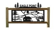 Personalized Cabin Sign -rustic Log Decor - Outdoor Yard Signs
