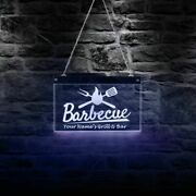 Custom Grill Bar Barbecue Bbq Hanging Led Light Neon Sign Restaurant Roast Meat