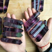 10 Pieces 1kg Natural Green Purple Fluorite Crystal Double Points Wands Healing