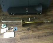 Vincent Bach Stradivarius Model 16 Trombone W Case Valley Forge Military Academy