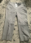 Eileen Fisher Organic Cotton Stretch Twill Cropped Pants Size 16 Nwt 188