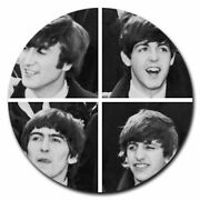 Beatles Pictures Music Charm Gem Pendant 18k Gold Plated Necklace 20 Women Gift