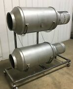Drum Cart For Donut Sugar Tumbler - Stainless Steel - New