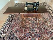 Vintage Singer Sewing Machine With Manual And Numerous Attachments Included
