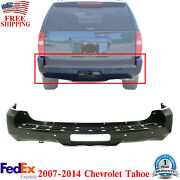 Rear Bumper Cover With Object Sensor Holes Primed For 2007-2014 Chevrolet Tahoe