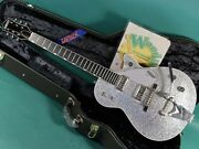 Gretsch G6129t 2014 Made In Japan Silver Sparkle Bigsby Hh Used Electric Guitar