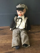 """Vintage 1930's 20"""" Charlie Mccarthy Ventriloquist Composition Head Doll Puppet"""