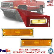Front Marker Lamp Left + Right Side For 1978-1987 Chevy Gmc C/k 1981-91 Suburban