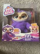 Brand New Pets Alive Fifi The Flossing Sloth Battery-powered Robotic Toy By Zuru