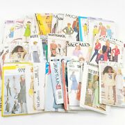 Lot Of 43 Vintage Mccalls Simplicity Butterick Vogue Sewing Patterns Kids Womens