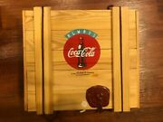 Polonaise Set Of 3 Always Coca Cola Ornaments In Wood Box 1996