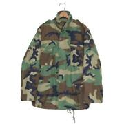 Us Army M-65 Field Jacket 3rd Military Woodland Camouflage Menand039s S-r 80s Vintage