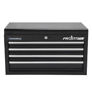 Frontier 26-inch 4 Drawer Top Tool Chest Tool Organizer Black Steel Tool Box