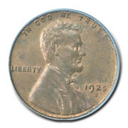 1925-s 1c Lincoln Cent - Type 1 Wheat Reverse Pcgs Ms64rb Cac