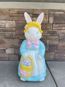 Vintage Empire Mrs. Easter Bunny Blow Mold Lighted