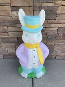 Vintage Empire Mr. Easter Bunny Blow Mold Lighted