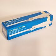 Electric Knife Bread Meat 2 Removable Blades Built In Power Switch White Walmart