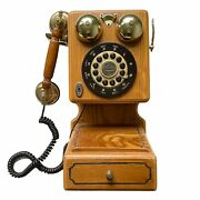 Vintage Thomas Collectors Edition Phone Old Wall Mount Wooden Wood Museum Series