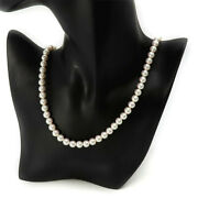 Mikimoto Pearl Necklace K18 6.9mm 7.3mm Quality Maru High