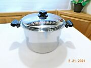 Saladmaster T304s 12 Qt Roaster Stock Pot And Lid 5 Ply Waterless Cookware