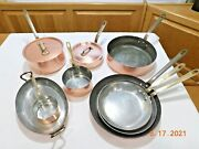French Copper Cookware Tin Lined Iron Handle Lamalle France