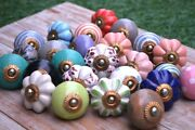 Wholesale Lot Indian Cupboard Pull Handle Drawer Knob Mix-ceramic Kitchen-knobs