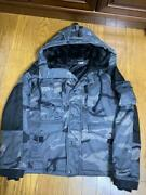 Avirex P.d.w Camouflage Military Coat With Stickers Size M