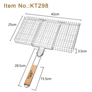Bbq Grilling Basket 304 Stainless Steel Rustproof Portable Barbecue Tool Outdoor