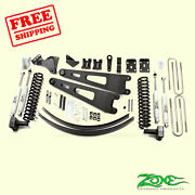 6 Front And Rear Radius Arm Suspension Lift Kit Fits Ford F250 4wd 2008-2010 Zone