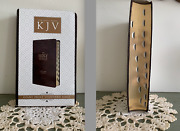 New Giant Print Kjv Bible In Slipcover, With Thumb Index, Gilt Pages, Ribbon
