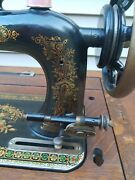 Vintage New Home Sewing Machine In Its Original Treadle Cabinet, Works