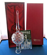 Vintage Waterford Crystal 10 Tall Christmas Tree Topper Original Box And Sticker