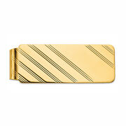 Personalized Custom Engraved Money Clip In Yellow Gold Plated Silver