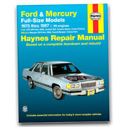 Haynes Repair Manual For 1987 Ford Country Squire - Shop Service Garage Book Ty