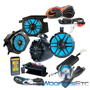 Memphis Rzrpro4 2014 And Up Polaris Rzr 4 Speakers 4-channel Amplifier Bluetooth