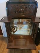 Early 20th Century Japanese Carved Wood Flip - Open Dry Bar