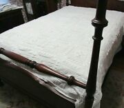Antique Vintage White Hand Knit Crochet Bedspread Puffy Design 82 X 70 Lovely