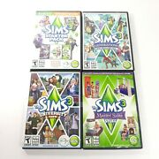 The Sims 3 Starter Pack Pc Generations University Life Expansion Packs Lot Of 4